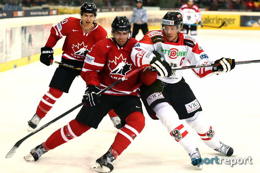 Eishockey, Nationalteam, ÖEHV, Freundschaftsspiel, Testspiel, Österreich, Kanada, Österreich vs. Kanada, Bericht, Spielbericht - Foto © Sportreport