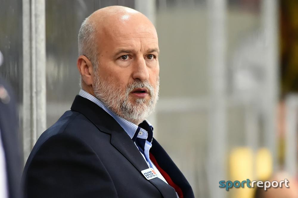 Eishockey, EBEL, Erste Bank Eishockey Liga, Orli Znojmo, Jiri Reznar, Roman Simicek, Trainer