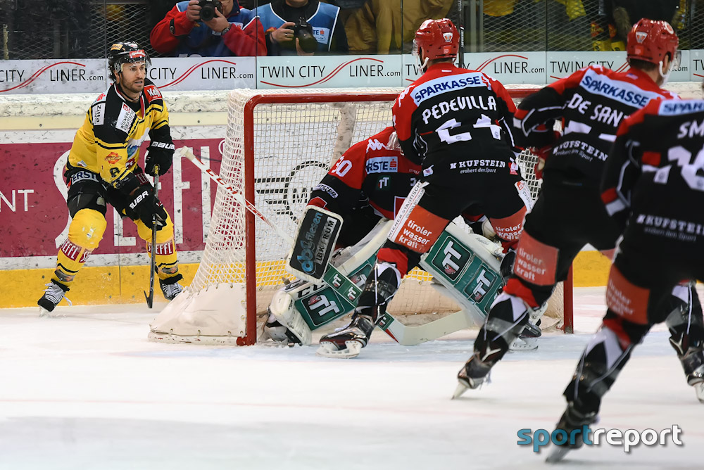 Eishockey, EBEL, Erste Bank Eishockey Liga, HC Innsbruck, Florian Pedevilla, Benedikt Schennach, Dominique Saringer