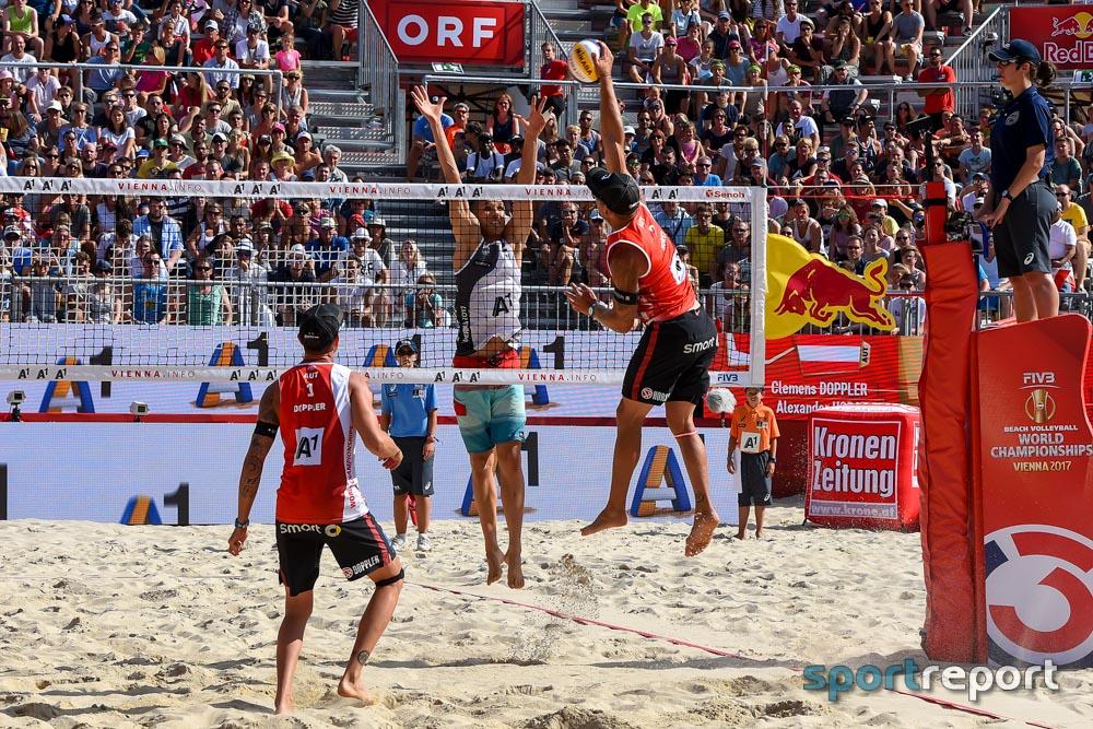 Beachvolleyball WM, Stefanie Schwaiger, Katharina Schützenhöfer, Clemens Doppler, Alex Horst, FIVB - Foto © Sportreport
