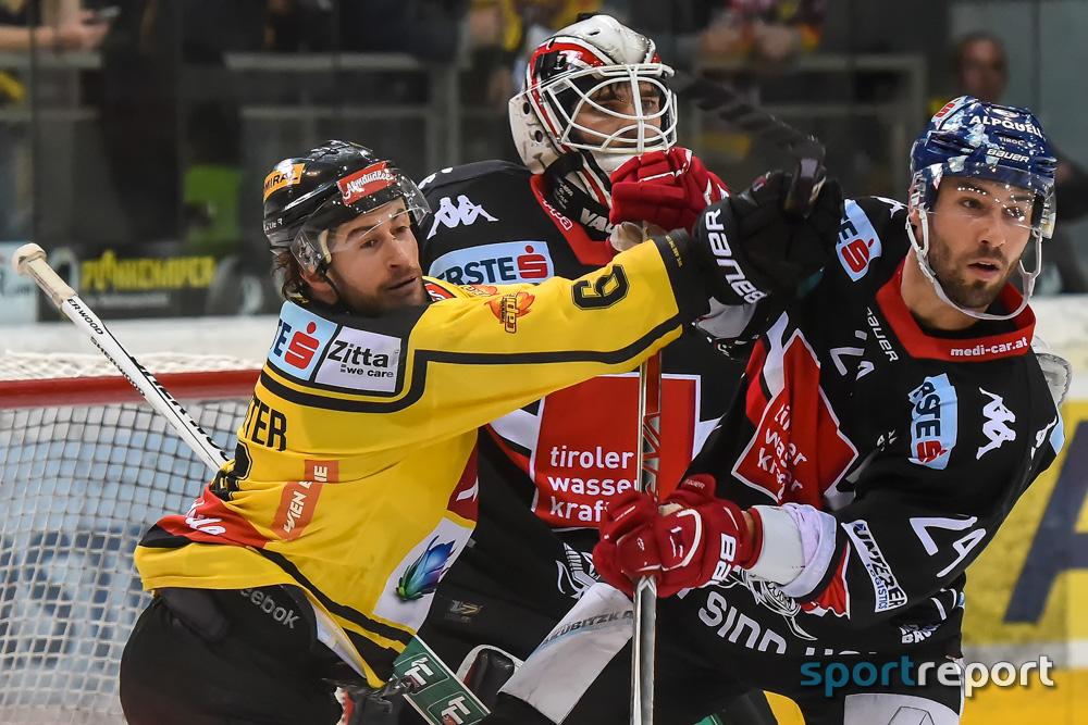 Eishockey, EBEL, Erste Bank Eishockey Liga, HC Innsbruck, Innsbrucker Haie, Vienna Capitals, HC Innsbruck vs. Vienna Capitals