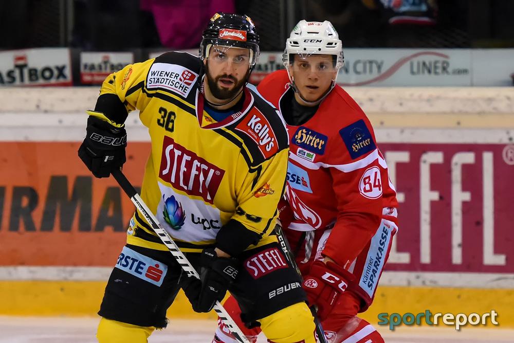 Eishockey, KAC, EBEL, Michael Kernberger, Ramon Schnetzer, Erste Bank Eishockey Liga