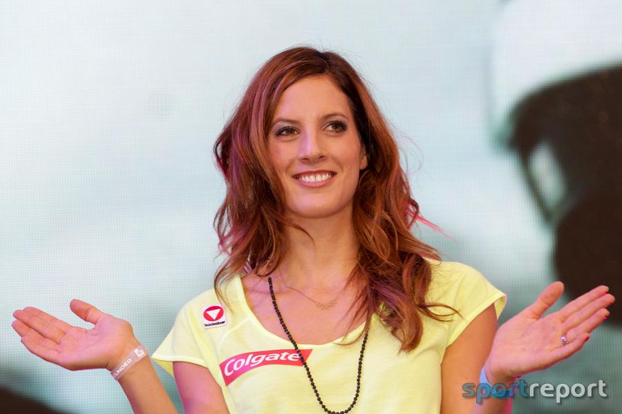 Julia Dujmovits, Olympiasiegerin, Halbmarathon, Donau Zentrum, Snowboard