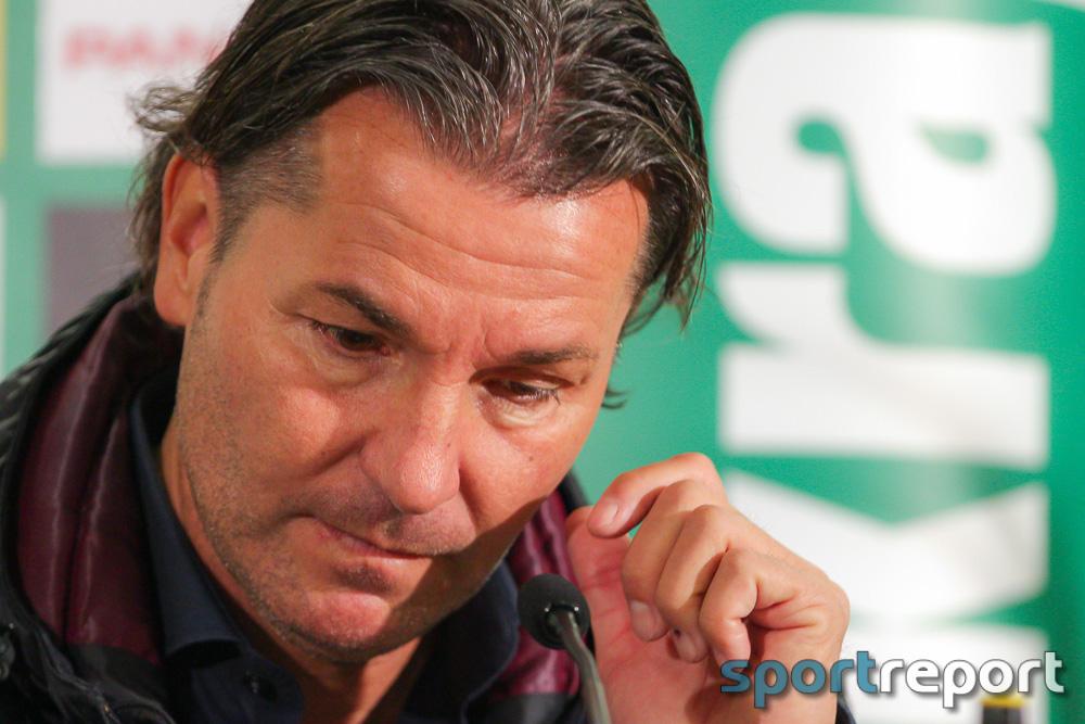 """Gerald Baumgartner (Trainer SV Mattersburg): """"Wir haben die Austria leider eingeladen."""""""