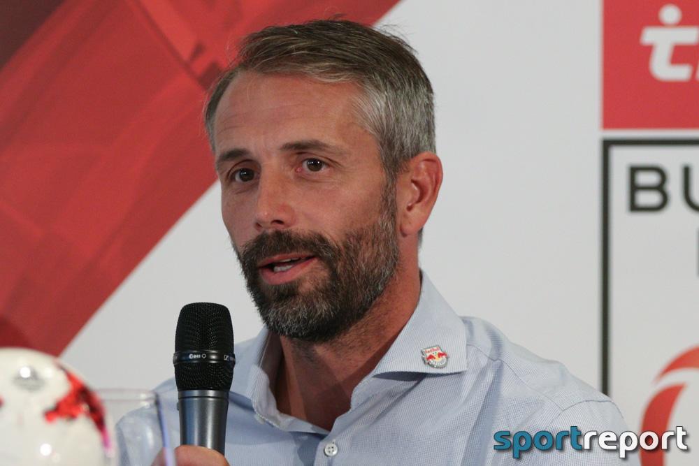 """Marco Rose (Trainer Red Bull Salzburg): """"Insgesamt war es wieder eine ordentliche Teamleistung, natürlich auch mit Luft nach oben."""""""