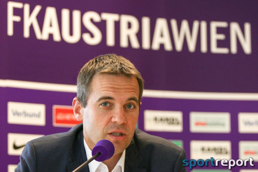 """Markus Kraetschmer (Vorstand Finanzen FK Austria Wien): """"Ich hoffe, es ist genug Geld in diesem Topf"""""""