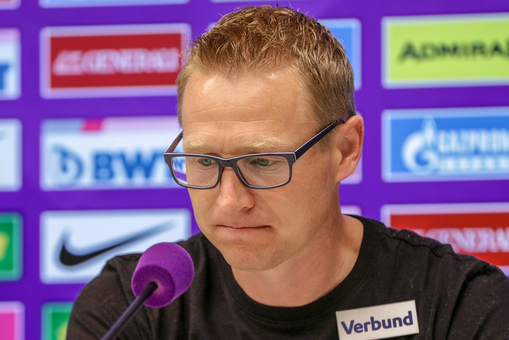 """Robert Ibertsberger (Trainer SKN St Pölten): """"In der ersten Halbzeit hatten wir klar die Kontrolle und zweite Halbzeit waren wir einfach zu passiv"""""""
