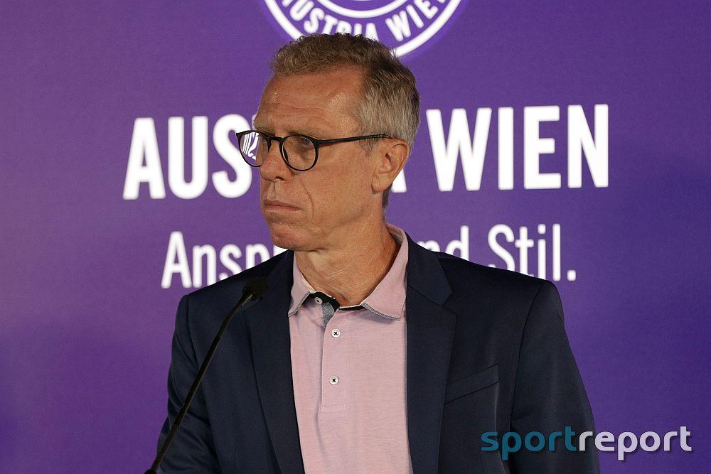 """Peter Stöger (Trainer & General Manager Sport-Austria Wien): """"Drei Runden vor der Teilung dabei zu sein um Platz 6, ist ein erfreulicher Zustand"""""""
