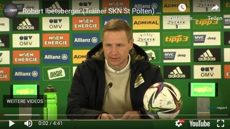 Video: Robert Ibetsberger (Trainer SKN St Pölten) - die Pressekonferenz nach dem Spiel gegen SK Rapid Wien