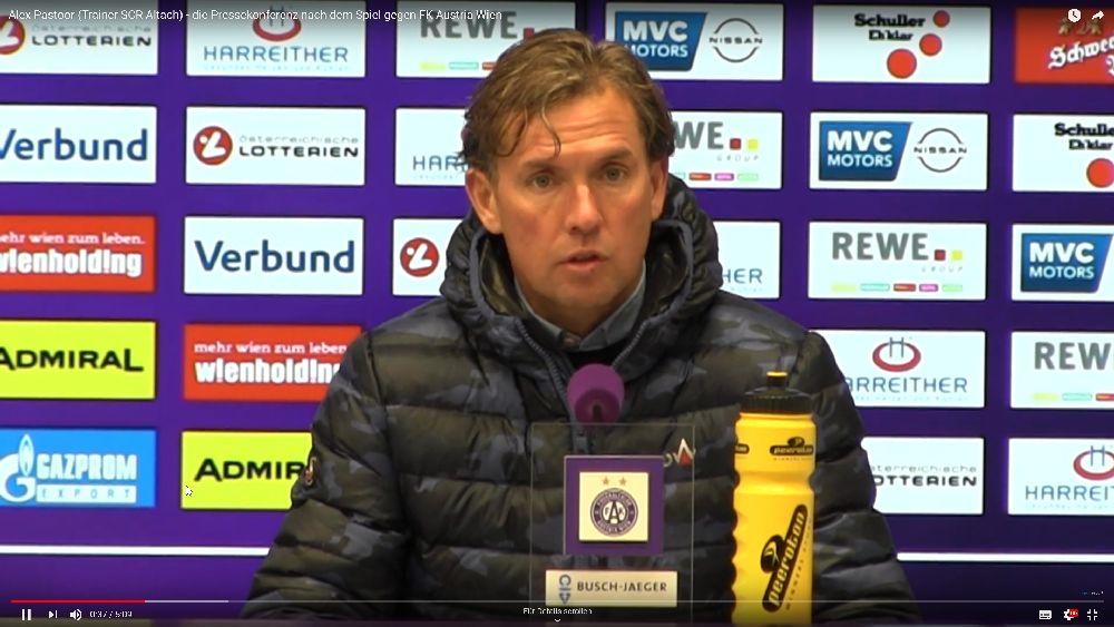 Video: Alex Pastoor (Trainer SCR Altach) - die Pressekonferenz nach dem Spiel gegen FK Austria Wien
