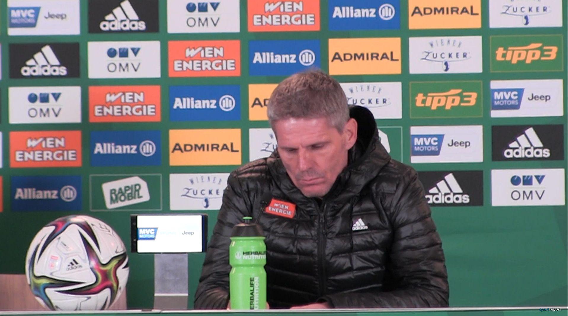 Video: Didi Kühbauer (Trainer SK Rapid Wien) - die Pressekonferenz nach dem Spiel gegen TSV Hartberg