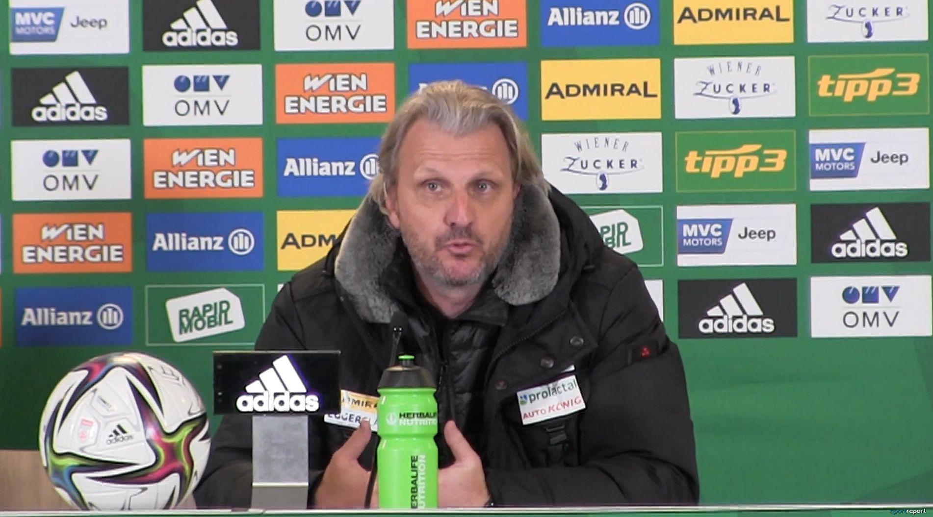 Video: Markus Schopp (Trainer TSV Hartberg) - die Pressekonferenz nach dem Spiel gegen SK Rapid Wien