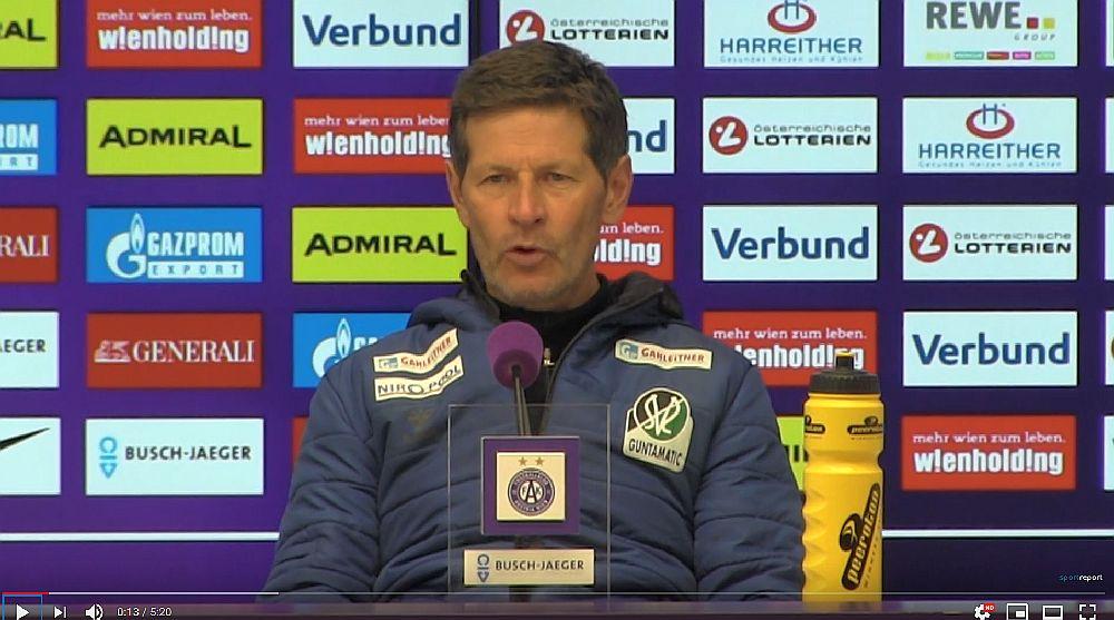 Video: Andreas Heraf (Trainer SV Ried) - die Pressekonferenz nach dem Spiel gegen FK Austria Wien