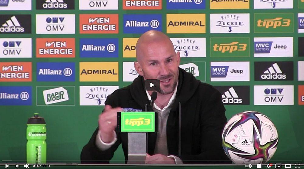 Video: Christian Ilzer (Trainer SK Sturm Graz) - die Pressekonferenz nach dem Spiel gegen SK Rapid Wien