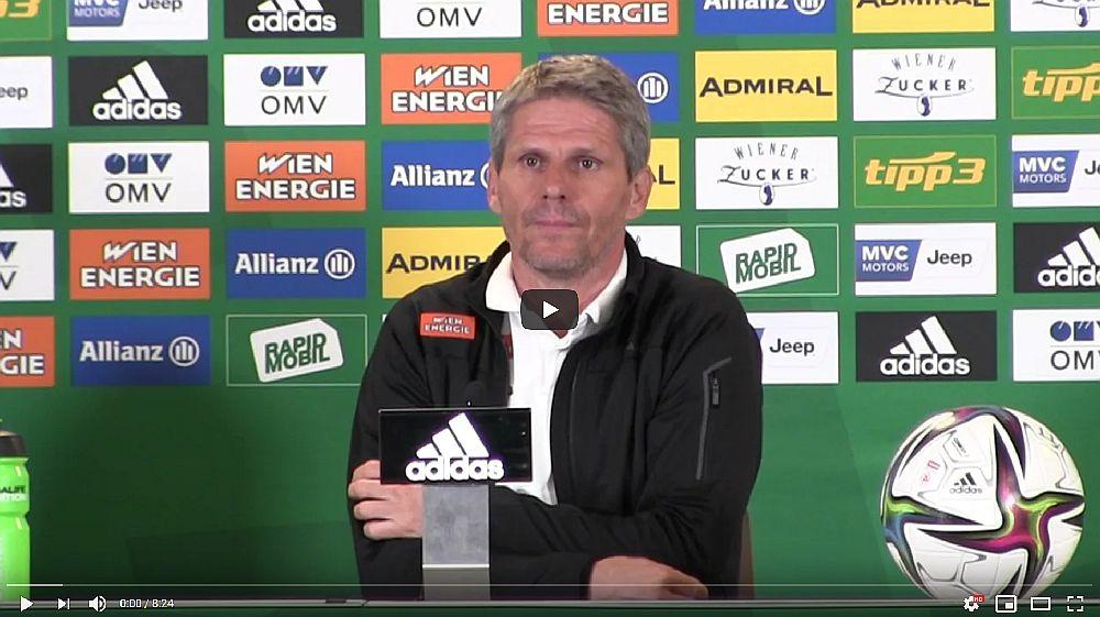 Video: Didi Kühbauer (Trainer SK Rapid Wien) - die Pressekonferenz nach dem Spiel gegen FC Red Bull Salzburg
