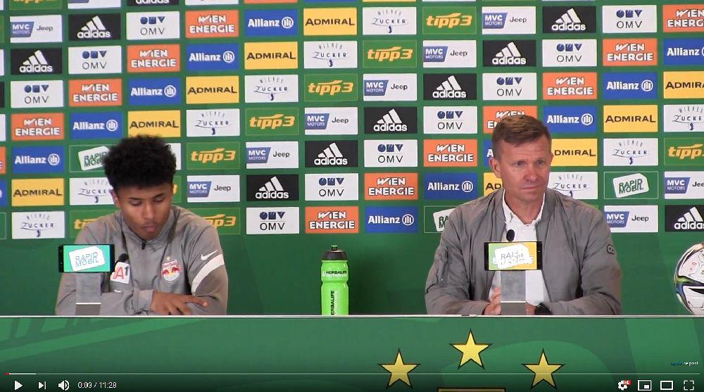 Video: Jesse Marsch (Trainer FC Red Bull Salzburg) - die Pressekonferenz nach dem Spiel gegen SK Rapid Wien