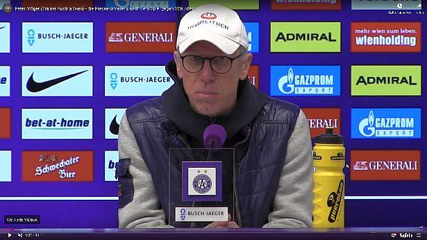 Video: Peter Stöger (Trainer FK Austria Wien) - die Pressekonferenz nach dem Spiel gegen SCR Altach