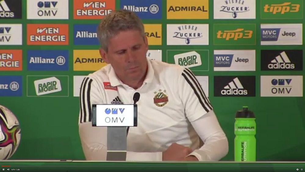 Video: Didi Kühbauer (Trainer SK Rapid Wien) - die Pressekonferenz nach dem Spiel gegen WAC