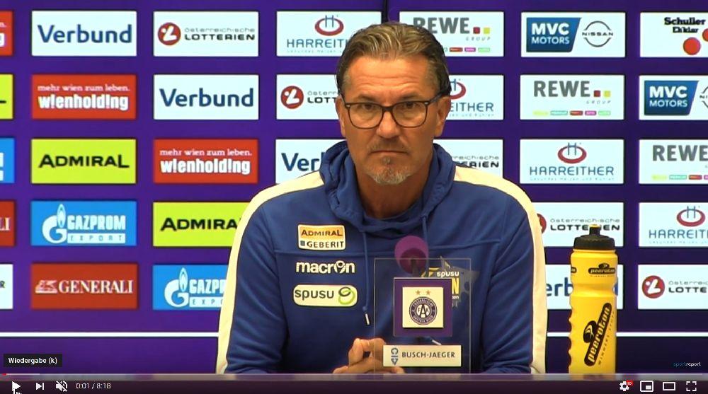 Video: Gerald Baumgartner (Trainer SKN St Pölten) - die Pressekonferenz nach dem Spiel gegen FK Austria Wien