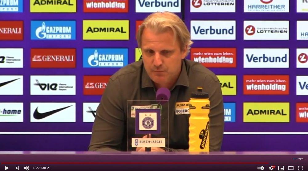 Video: Markus Schopp (Trainer TSV Hartberg) - die Pressekonferenz nach dem Spiel gegen FK Austria Wien