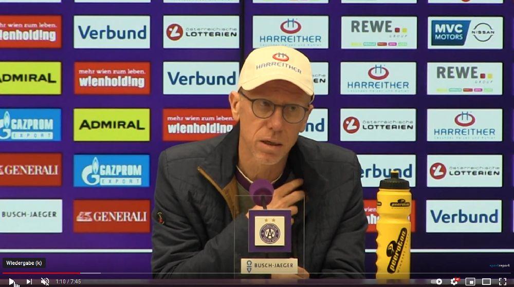 Video: Peter Stöger (Trainer FK Austria Wien) - die Pressekonferenz nach dem Spiel gegen SKN St Pölten