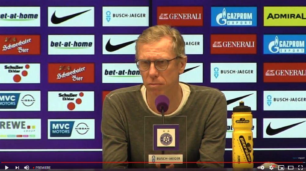 Video: Peter Stöger (Trainer FK Austria Wien) - die Pressekonferenz nach dem Spiel gegen TSV Hartberg