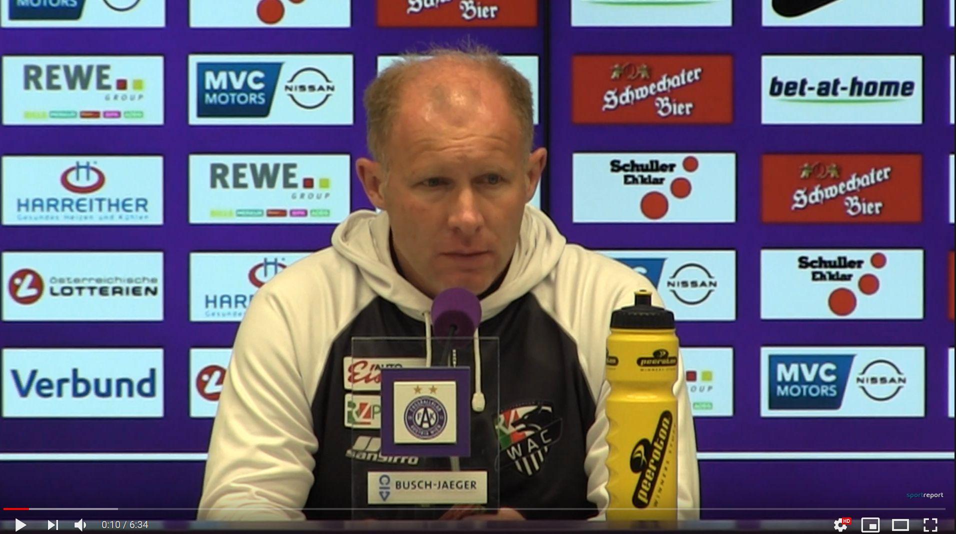 Video: Roman Stary (Trainer WAC) - die Pressekonferenz nach dem Spiel gegen FK Austria Wien