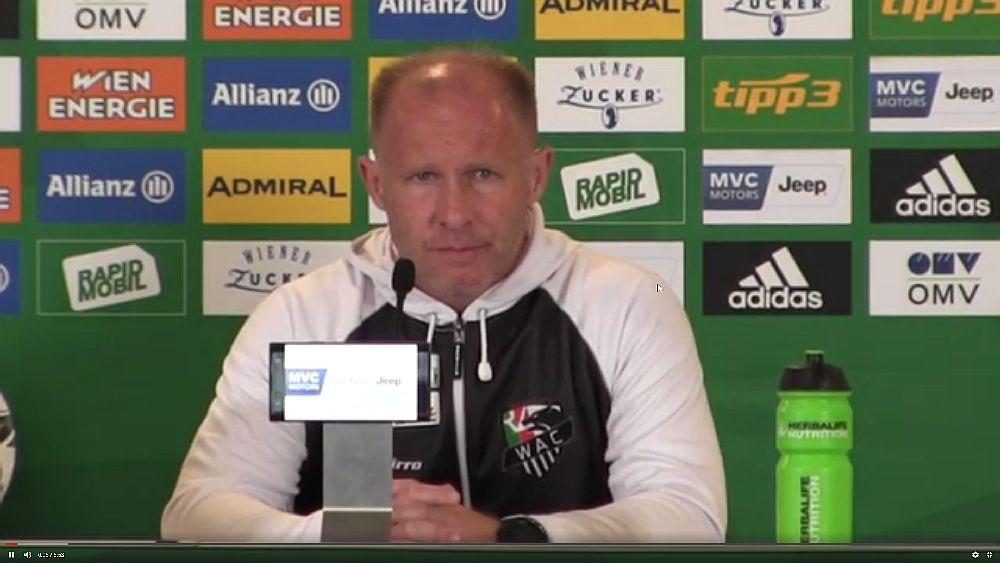 Video: Roman Stary (Trainer WAC) - die Pressekonferenz nach dem Spiel gegen SK Rapid Wien