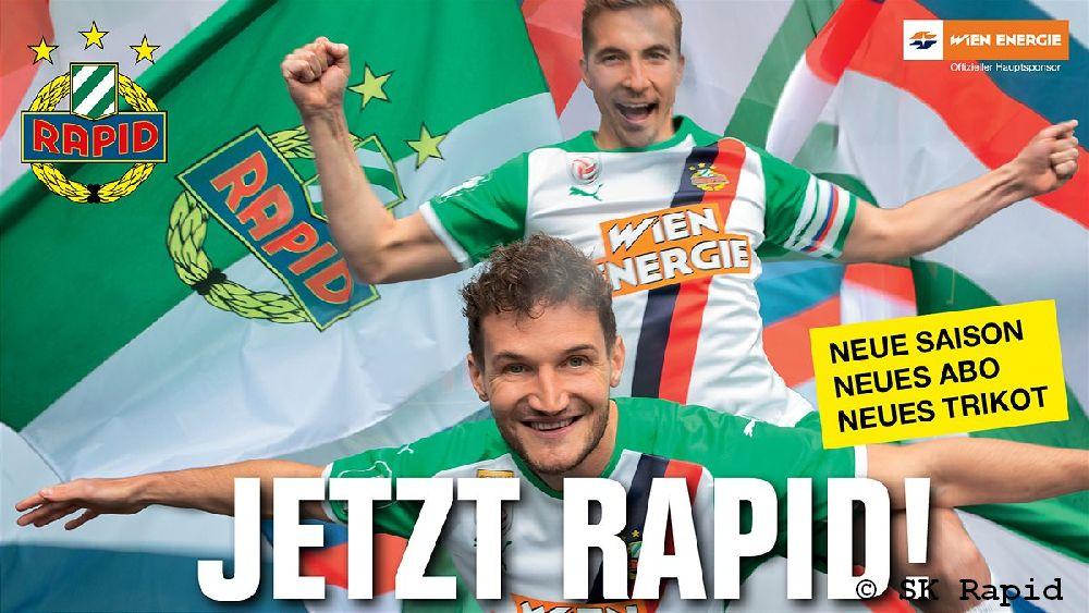 Neue Saison, neues Trikot, neue Plakatkampagne des SK Rapid