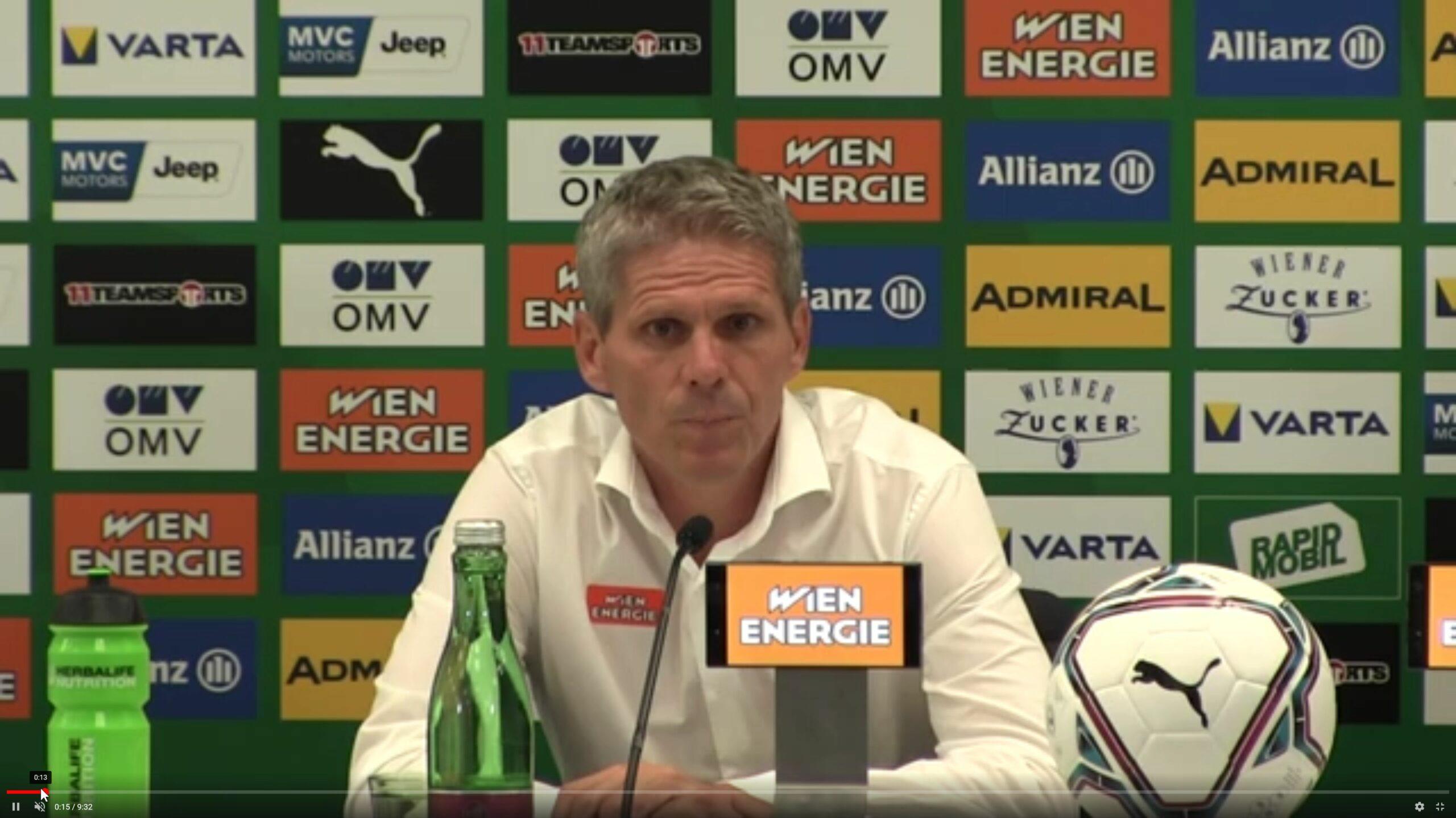 Video: Didi Kühbauer (Trainer SK Rapid Wien) - die Pressekonferenz nach dem Spiel gegen Sorja Luhansk