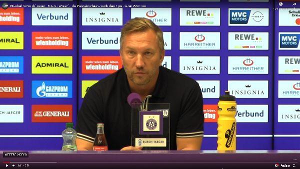 Video: Manfred Schmid (Trainer FK Austria Wien) - die Pressekonferenz nach dem Spiel gegen WSG Tirol
