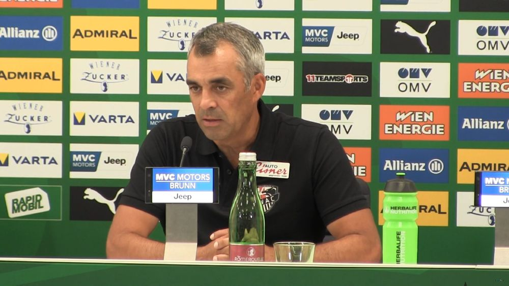 Video: Robin Dutt (Trainer WAC) - die Pressekonferenz nach dem Spiel gegen SK Rapid Wien