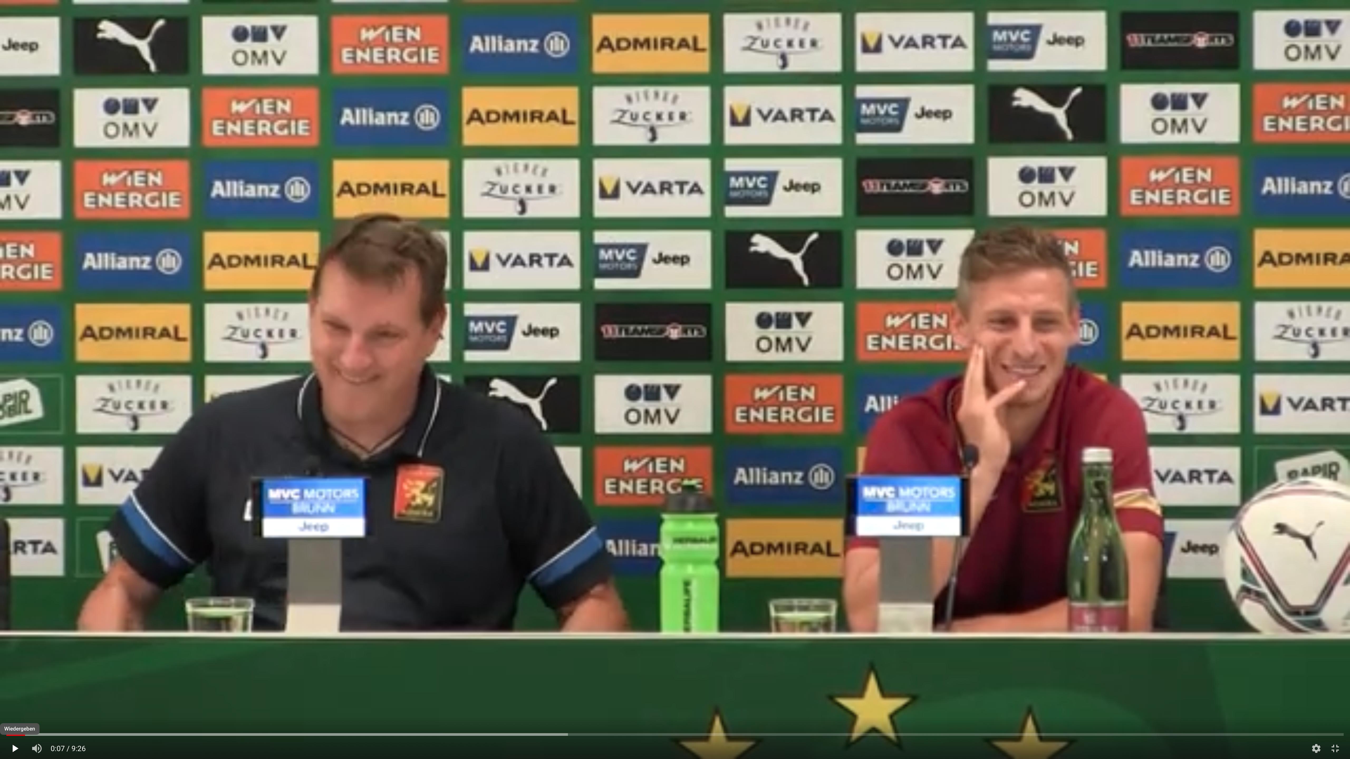 Video: Andreas Herzog (Trainer FC Flyeralarm Admira) - die Pressekonferenz nach dem Spiel gegen SK Rapid Wien