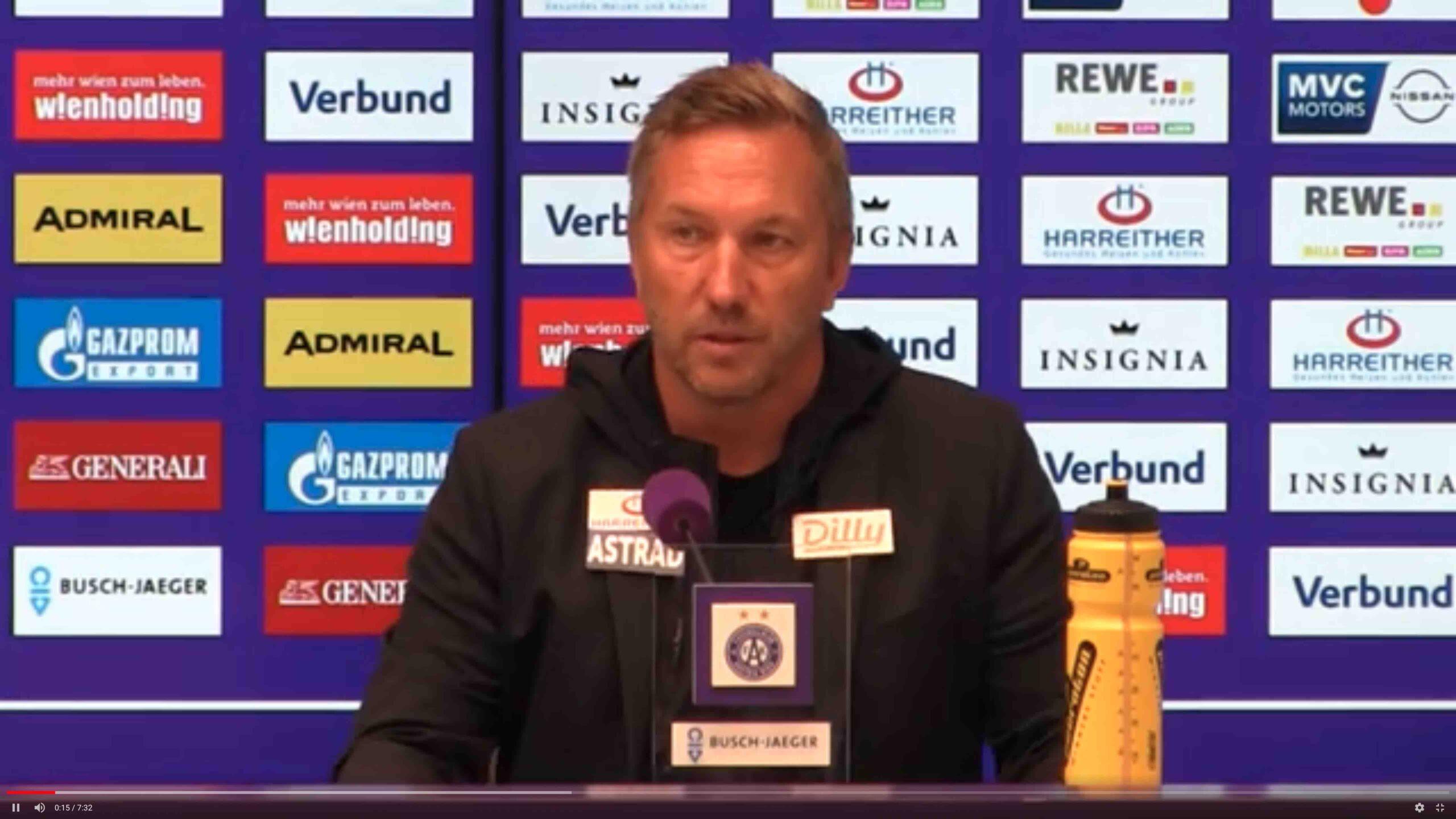 Video: Manfred Schmid (Trainer FK Austria Wien) - die Pressekonferenz nach dem Spiel gegen SCR Altach