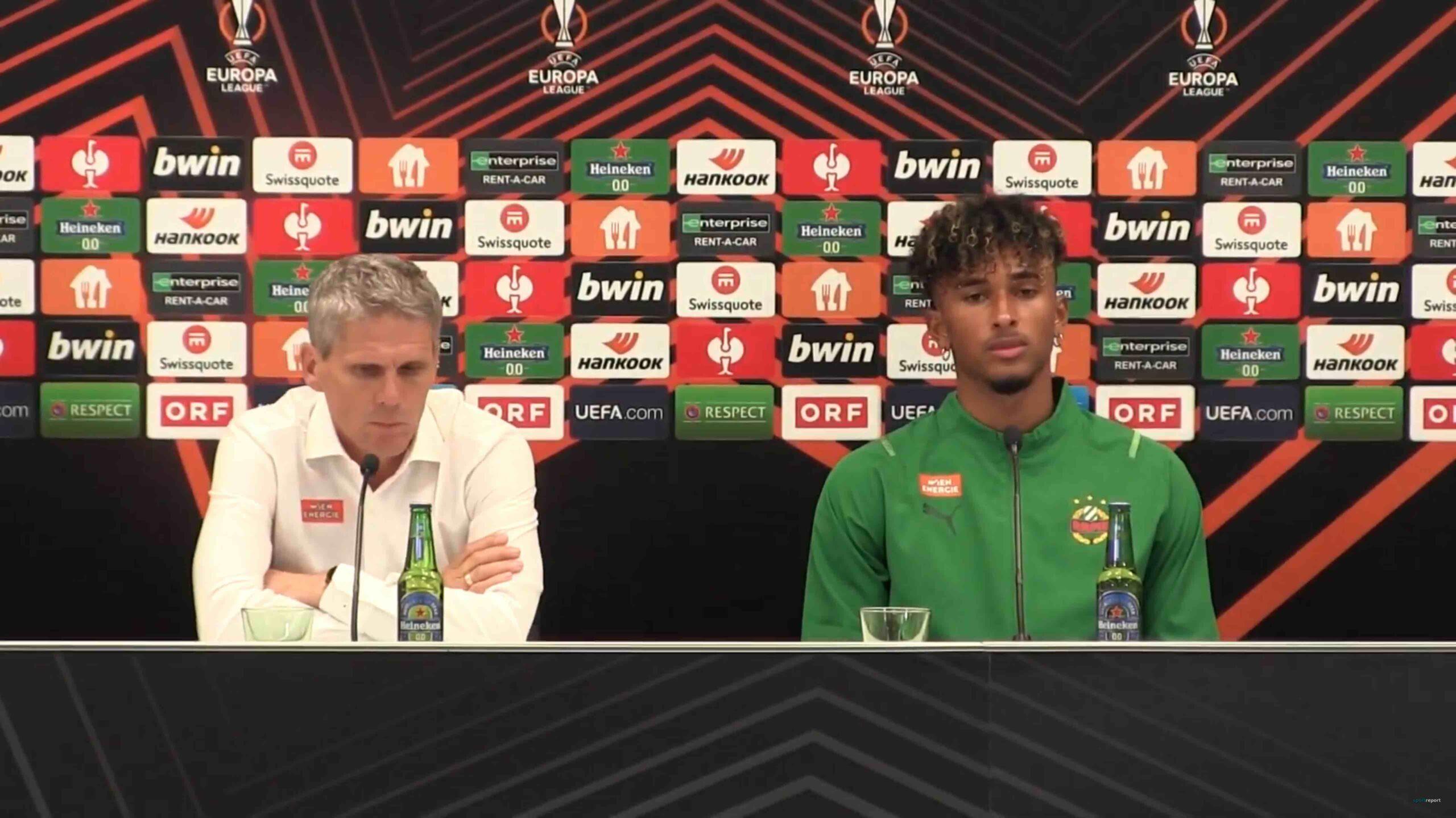 Video: Didi Kühbauer (Trainer SK Rapid Wien) - die Pressekonferenz nach dem Spiel gegen KRC Genk