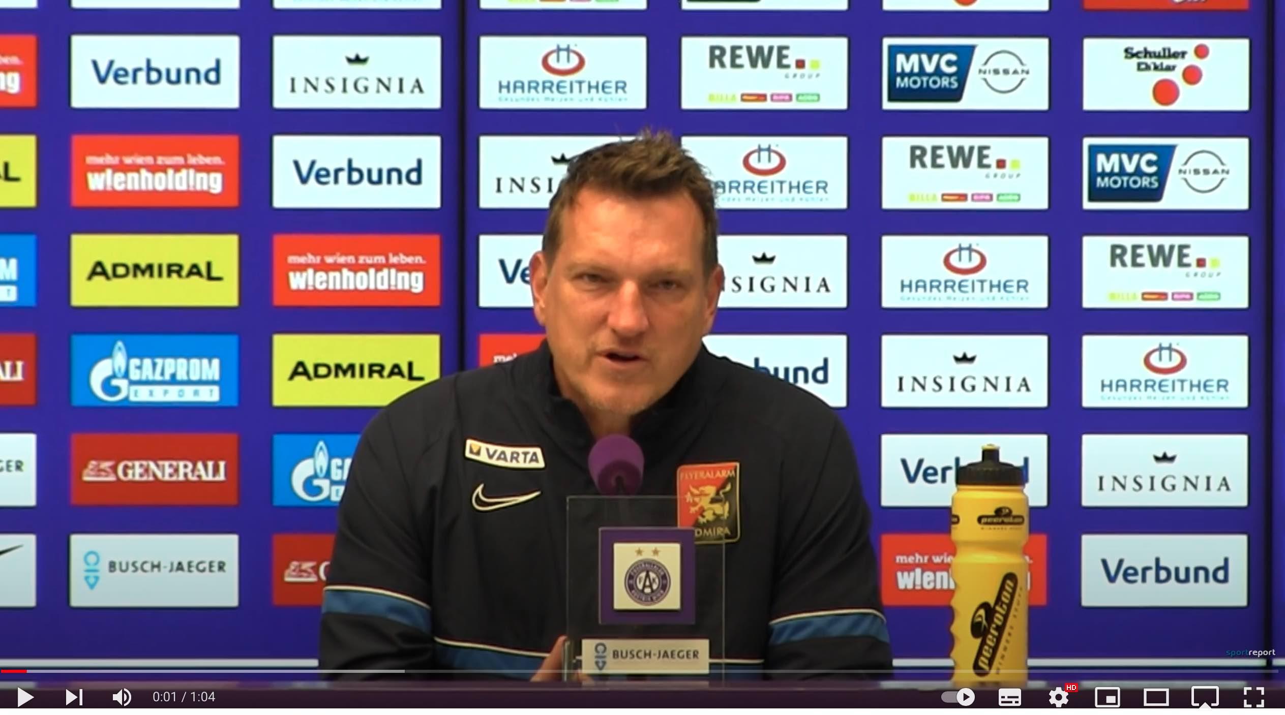 Video: Andi Herzog (Trainer FC Flyeralarm Admira) - die Pressekonferenz nach dem Spiel gegen FK Austria Wien