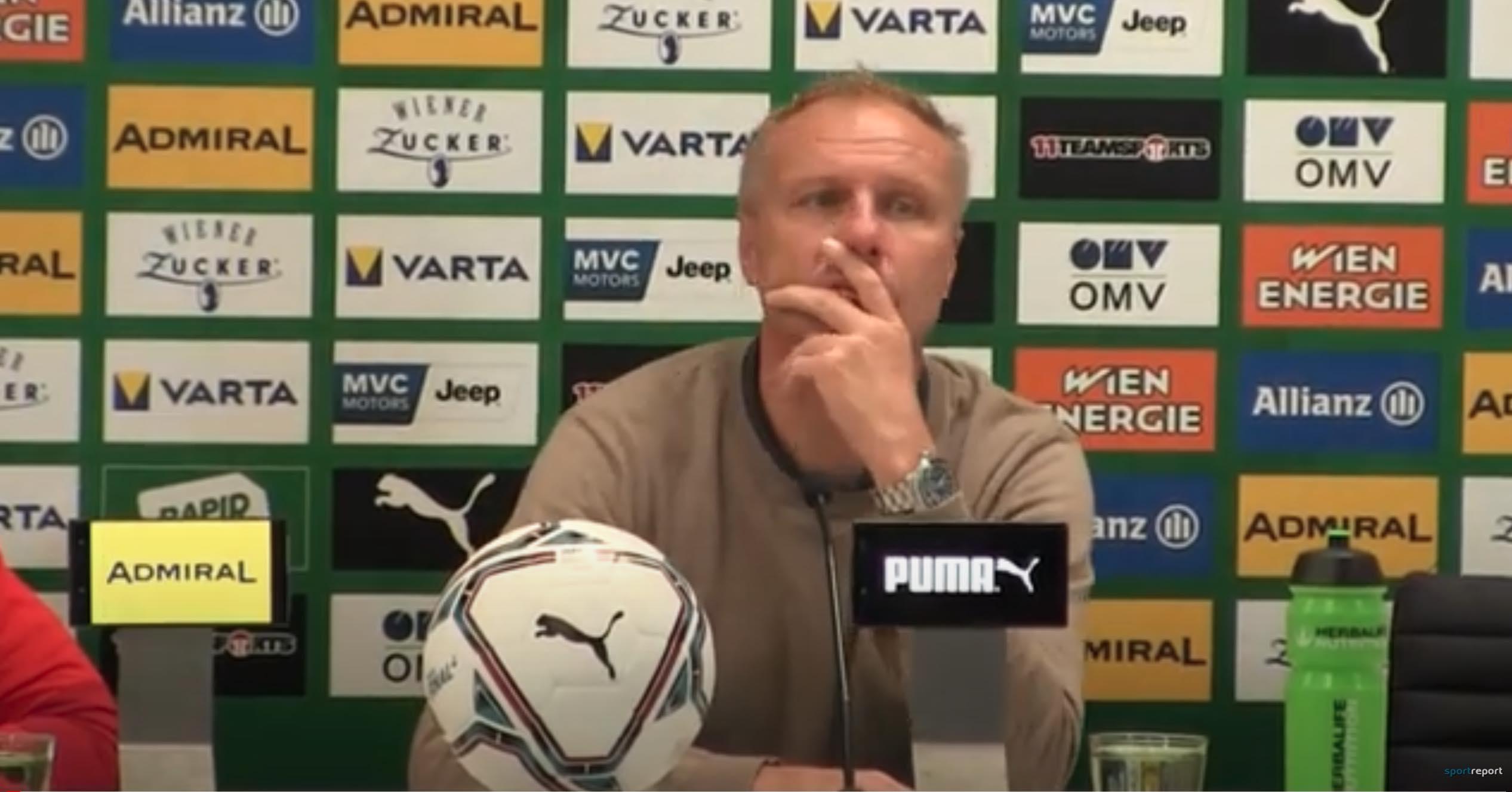 Video: Thomas Silberberger (Trainer WSG Tirol) - die Pressekonferenz nach dem Spiel gegen SK Rapid Wien